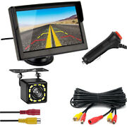 Waterproof 12led Car Backup Camera Night Vision+5monitor With Cigarette Lighter