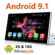 10.1 Double 2din Car Android 9.1 Stereo Radio No Dvd Player Wifi Gps Navigation