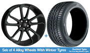 Hawke Winter Alloy Wheels And Snow Tyres 20 For Volvo V60 [mk2] 18-20