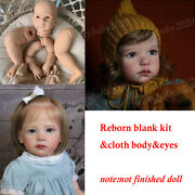 28in Reborn Doll Kits Blank Vinyl Head And Limbs Andcloth Body And Eyes Diy Baby Dolls