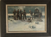 Gary Kapp Is A Well Known Utah Cowboy Artist. Original Oil Painting On Canvas.