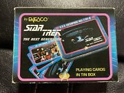 Star Trek The Next Generation Playing Cards In Tin Box By Enesco 1992