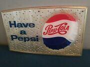 Vtg 1950s Pepsi Cola Soda Pop Bottle Cap Plastic Store Advertising 3-d Sign