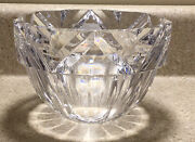 1159 Rare Orrefors Signed Lead Crystal Art Glass Deco Candy Dish Bowl Sweden