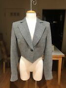 Yves Saint Laurent Ysl Rive Gauche Wool And Cashmere Cropped Tweed Jacket F38