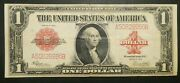 1923 1 One Dollar Red Seal Legal Tender Large Size Us Note Bill Currency