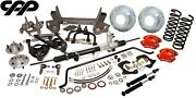 1955-59 Chevy Gmc Truck Mustang Ii Ifs Suspension Conversion Kit Red Wilwood 5x5
