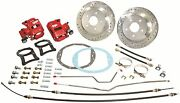 1965-70 Chevy Impala Caprice 12 Rear Big Brake Disc Conversion Kit Red Calipers