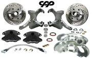 1973-87 Chevy C10 Gmc Truck Black D52 Wilwood Disc Brake 6 Lug Conversion Kit