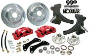 1960-62 Chevy C10 13 5 Lug 4.75 Disc Brake Conversion Kit Modular Spindle Red