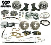 63 66 Chevy C10 Front And Rear Brake Kit Modular Drop Spindle 6 Lug Show Stopper