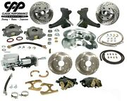 73 87 Chevy C10 Front And Rear Brake Kit Modular Drop Spindles 5x5 Show Stopper