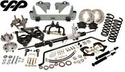 1933-34 Ford Cpp Mustang Ii Ifs Kit Heidts Crossmember Drop Spindle 5 X 4.5