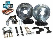 Ford 9 Rear Disc Brake Conversion Kit 12 Rotors Black Calipers Currie Rearend