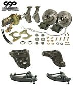 1955 57 Chevy Belair 2 Drop Spindle Disc Brake Kit With Stock Type Control Arms