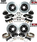 1963-72 Chevy C10 14 Front 13 Rear Big Brake Disc Conversion Kit 5 Lug 5 X 5