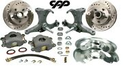 71-72 Chevy Gmc C10 Truck Stock Spindle 12 Drilled Slotted Disc Brake Kit 5 Lug