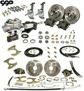 58 64 Chevy Belair Nomad Front Rear Disc Brake Kit Stock Spindle Hydrastop