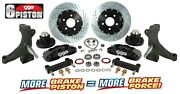60 62 Chevy C10 Truck 6 Piston Front Drop Spindle Big Disc Brake Kit 5 Lug