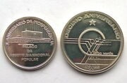 Cape Verde 1985 Independence 110 Escudos Set Of 2 Silver Coinsproof