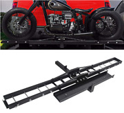 Motorcycle Scooter Dirt Bike Carrier Hauler Hitch Mount Steel Rack With Loading