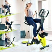 Home Folding Stationary Upright Indoor Cycling Exercise Bike With Lcd Monitor