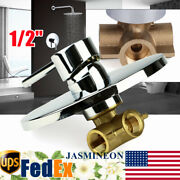 Shower Control Valve Brass Shower Mixer Faucet Control Valve Wall Mounted 1/2andrdquo
