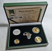 2003 Natura 3 Coin Gold Set - .9999 Fine - Wild Cats Of Africa The Lion - 0.85oz