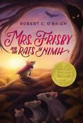 Mrs. Frisby And The Rats Of Nimh Robert C. Oand039brien Hardcover Collectible - Good
