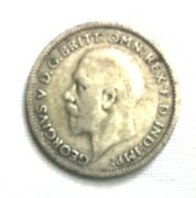 1933 Sixpence From United Kingdom Great Britain. 50 Silver
