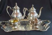 F. B. Rogers Silverplate 5 Piece Coffee And Tea Service Set Very Nice Condition