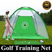 Pop Up Golf Practice Set Hitting Net 3and0393x4and0396 Indoor/out Golf Training Aids