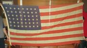 Vintage/antique Early 1900and039s 48 Star American Flag High Grade Bunting 8and039x4and039 Wool