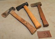 3 Hatchets One Early Hand Splitting Maul Camp Axe And Early Axe Collectible J9