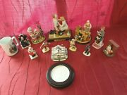 Huge Lot Of Vintage Norman Rockwell Statues And Figurines With Boxes. Club...