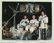 Apollo 15 Crew Signed Nasa Lithograph Dave Scott, James Irwin And Alfred Worden