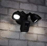 Ring Floodlight Camera Motion-activated Hd Security Cam - Alarm Black