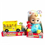Cocomelon Roto Plush Bedtime Jj Doll And Musical Yellow Bus Bundle