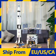 37003 Nasa Apollo Saturn V Rocket Ideas Creator Building Block Brick 21309 10266