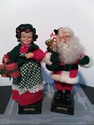 Mr. Mrs. Claus Musical Figurines Home Creations 1993 Vintage C Batteries Not In