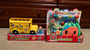 New Cocomelon Bundle Lot Musical Yellow School Bus Toy And Musical Check Up Set