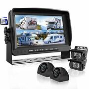 Backup Camera System With 9andrsquoandrsquo Large Monitor And Dvr For Rv Semi Box Truck