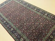 5andrsquo X 10andrsquo Red Navy Blue Fine Geometric Hand Knotted Oriental Rug Wide Runner Wool
