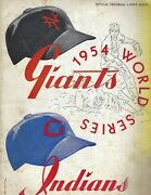 1954 World Series Program Giants Indians Ny Ws Champions Polo Grounds Edition