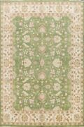 Floral Assorted Khoy Oriental Handmade Area Rug Green Wool Classic 8and039x10and039 Carpet