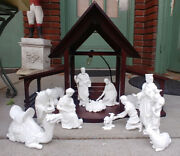 Lenox The Nativity Boxes 13 Pc Holy Family 3 Kings Animals Creche Porcelain 1988