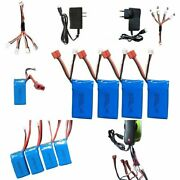 7.4v 1500mah High Capacity Car Li Po Battery Cable 4in1 Charger For Jjrc Q39 New