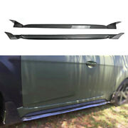 For 2011-2016 Hyundai Veloster Exterior Door Panel Side Skirts Real Carbon Fiber