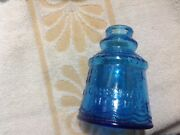 Collectible Wheaton Cape May Nj Bitters Turquoise Blue Lighthouse Figural Bottle