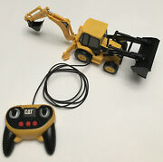 Toy State Cat Caterpillar Remote Control Construction Tractor Digger Truck Works